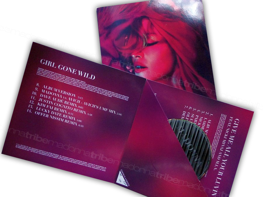 Madonna - Girl Gone Wild / Give Me All You Luvin  Cd Promo France 14 T