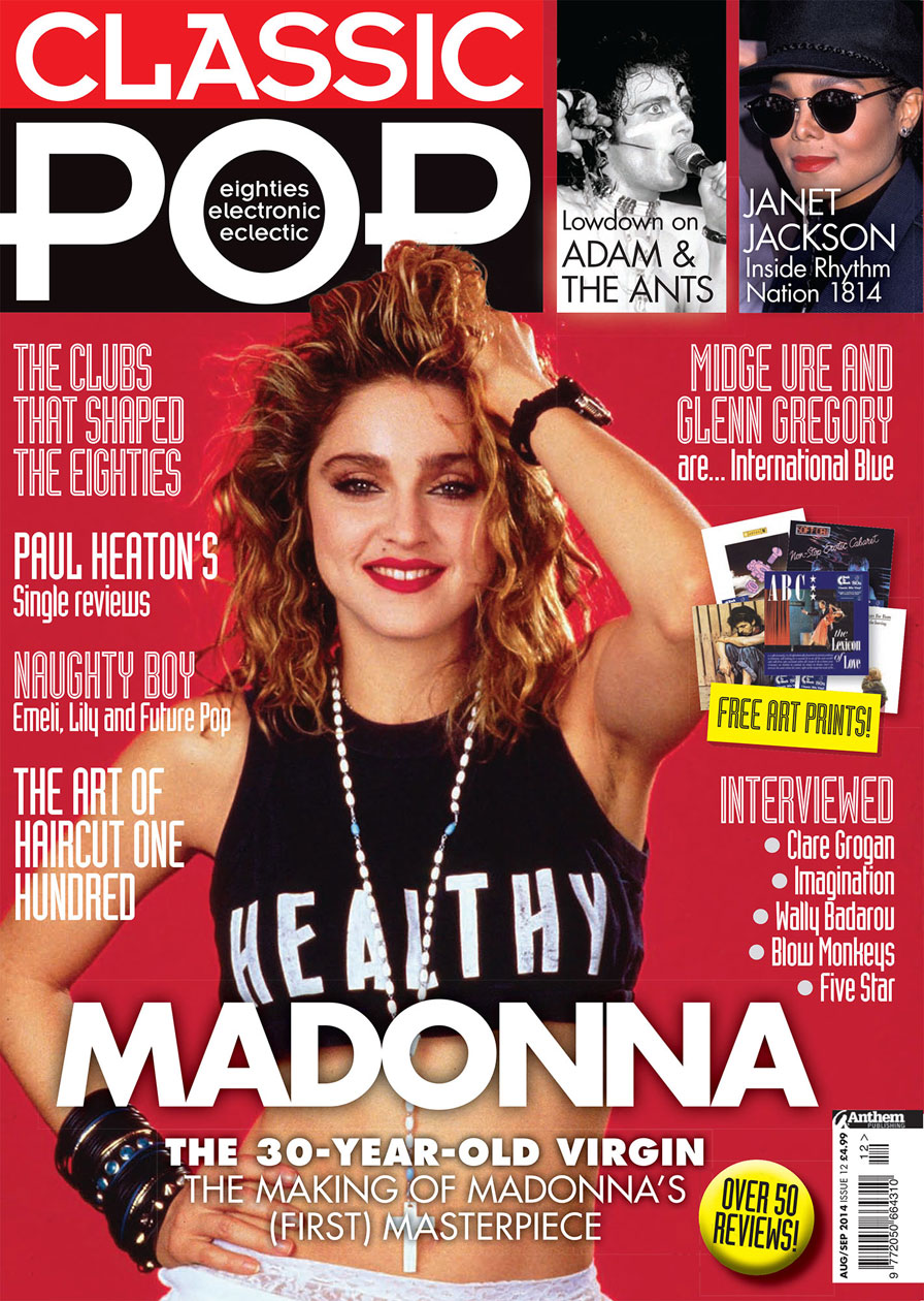 Madonna on the cover of Classic Pop