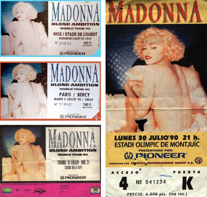 Blond Ambition Tour tickets