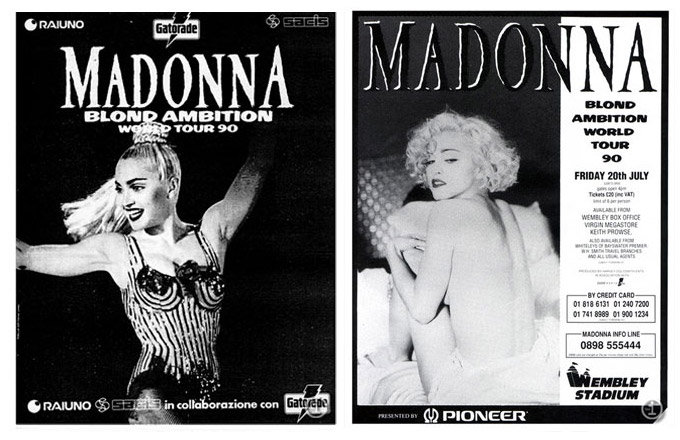 Blond Ambition Tour posters