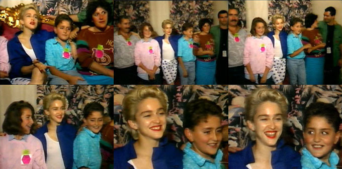 Madonna meeting the Vitucci family