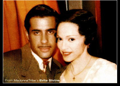 Image result for Madonna and Luca in Evita