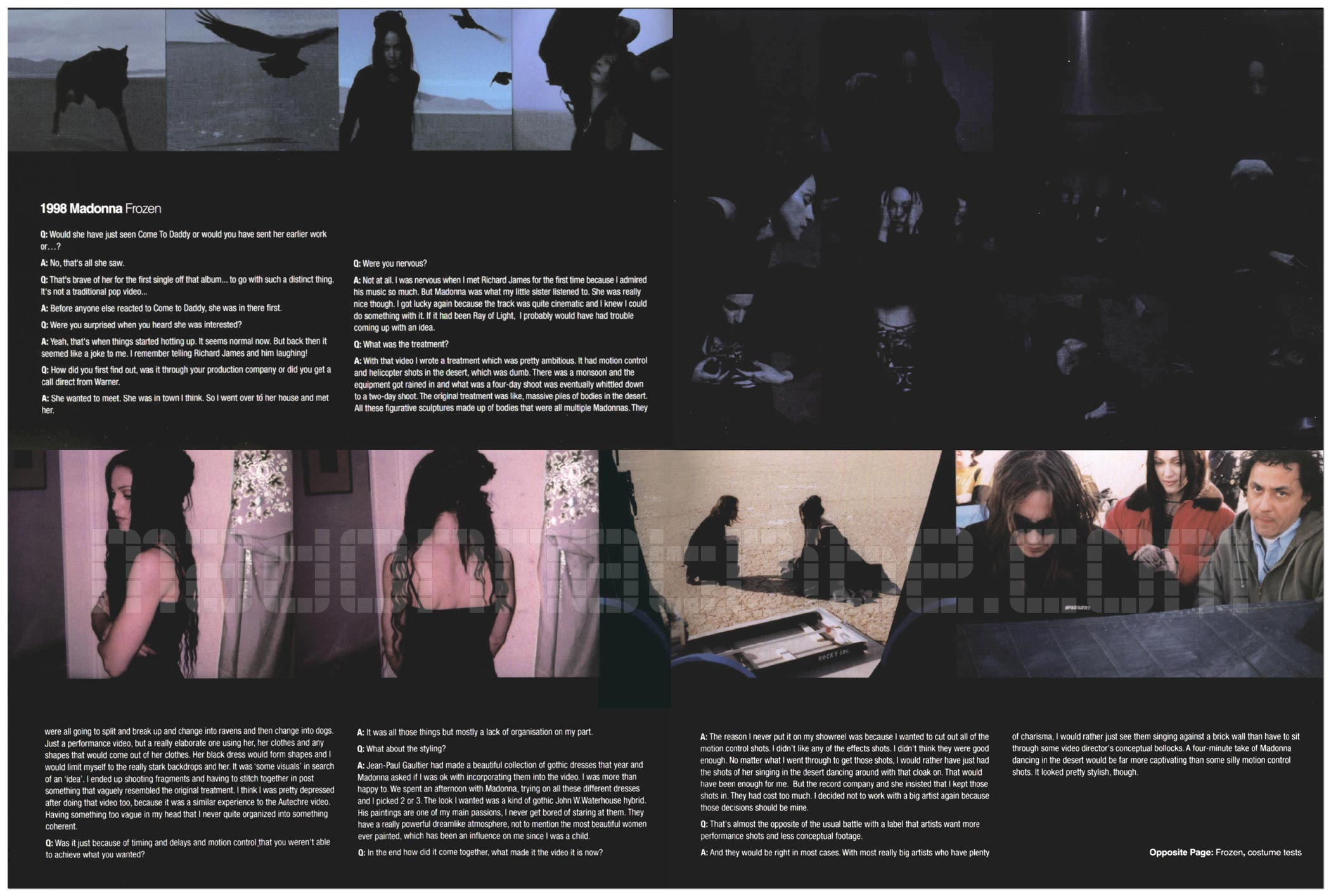 Chris Cunningham On The Making Of Frozen Madonnatribe Decade